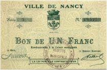 France 1 Franc Nancy City