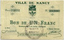 France 1 Franc Nancy City