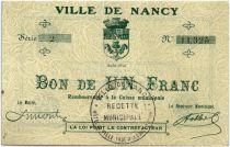 France 1 Franc Nancy Ville
