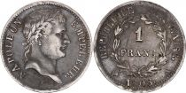 France 1 Franc Napoléon I - 1808 A Paris - Argent