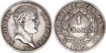 France 1 Franc Napoleon I - 1808 BB Strasbourg  Silver