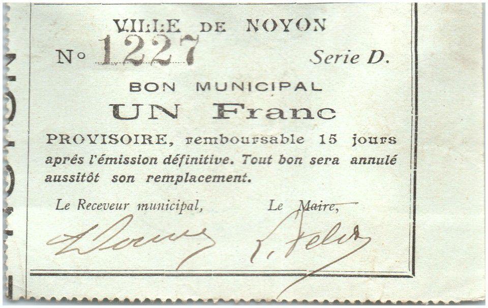France 1 Franc Noyon City