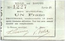 France 1 Franc Noyon Ville