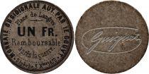 France 1 Franc Place de Langres - 1870 - Rare