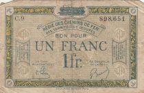 France 1 Franc Regie des chemins de Fer - 1923 - Serial C.9