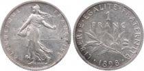 France 1 Franc Semeuse - 1898