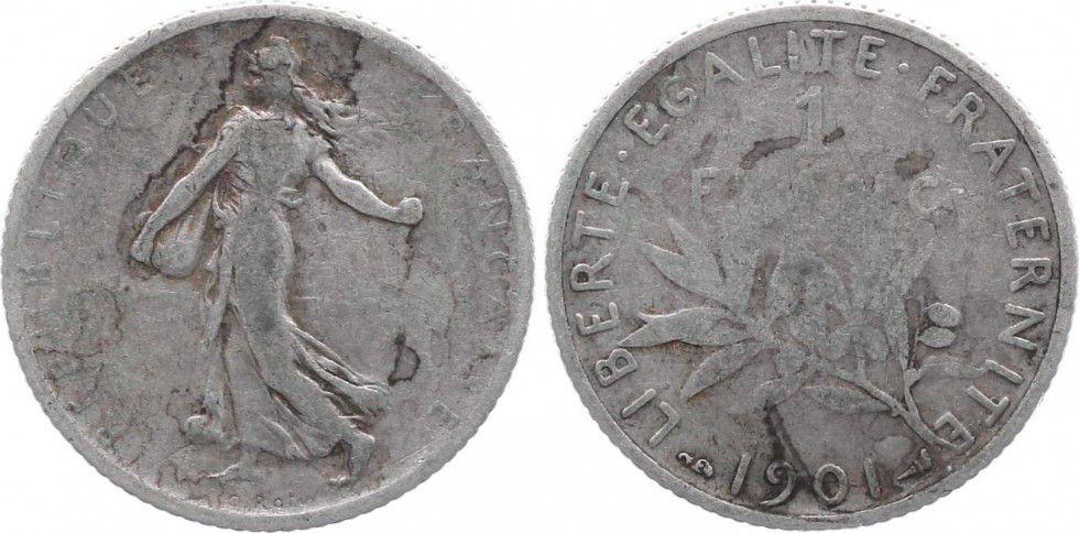 France 1 Franc Semeuse - 1901