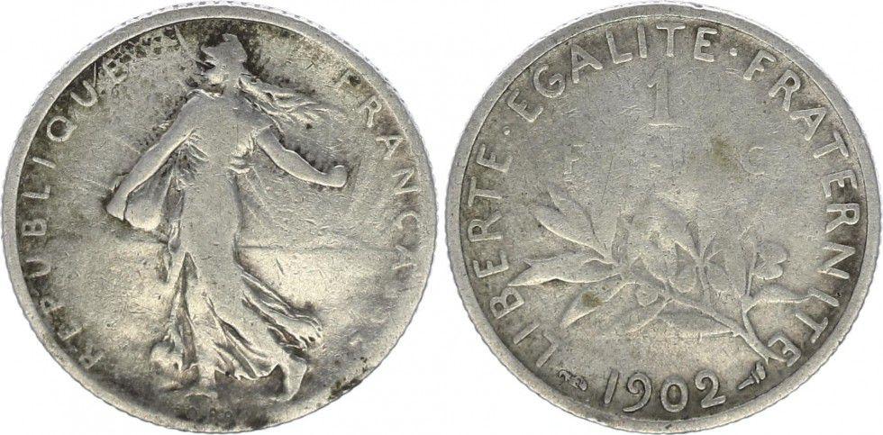 France 1 Franc Semeuse - 1902
