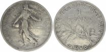 France 1 Franc Semeuse - 1908