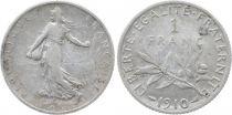France 1 Franc Semeuse - 1910 - Silver