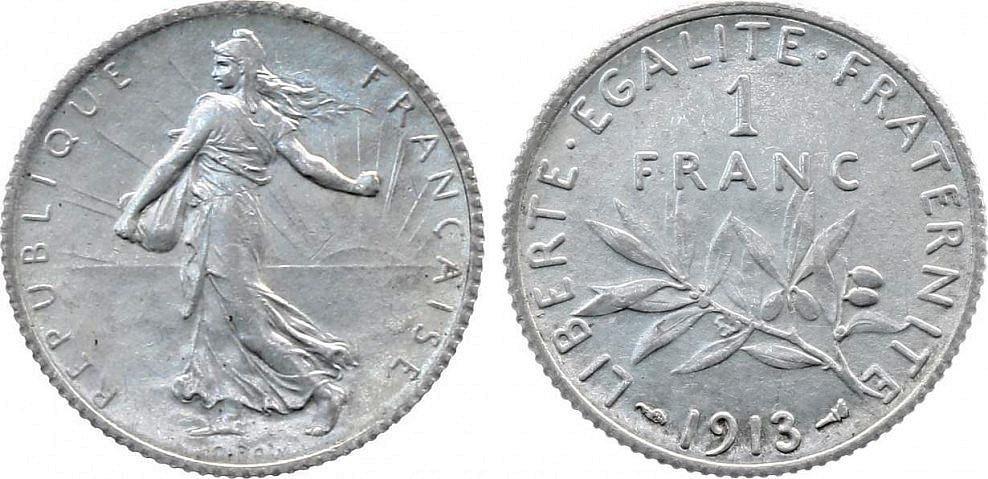 France 1 Franc Semeuse - 1913