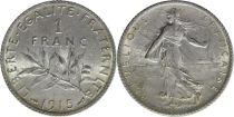 France 1 Franc Semeuse - 1915