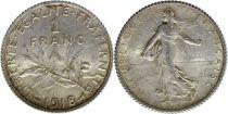 France 1 Franc Semeuse - 1918
