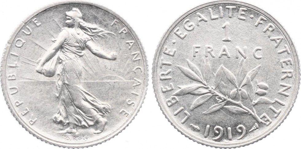 France 1 Franc Semeuse - 1919