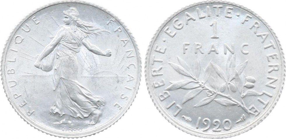 France 1 Franc Semeuse - 1920