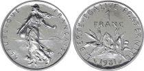 France 1 Franc Semeuse - 1981 - FDC - ISSU DE COFFRET