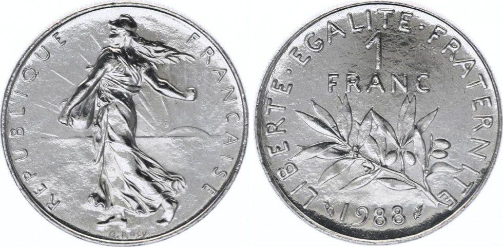 France 1 Franc Semeuse - 1988 FDC