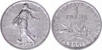 France 1 Franc Semeuse - 2001 - UNC  sortie de rouleau