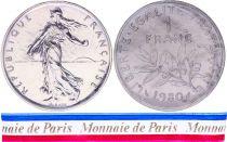 France 1 Franc Semeuse Piéfort 1980 - sous sachet Monnaie de Paris - Argent