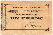 France 1 Franc Sequehart City - 1915