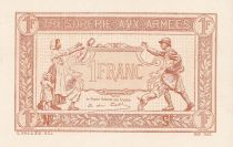 France 1 Franc Trésorerie aux armées - Epreuve 1919