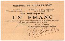 France 1 Franc Tugny-Et-Pont City - 1914