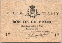 France 1 Franc Wassy City - 1915