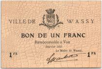 France 1 Franc Wassy City - 1916