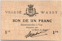 France 1 Franc Wassy Ville - 1915
