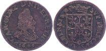 France 1 liard,  Charles I de Gonzague - Arches et charleville - 1609