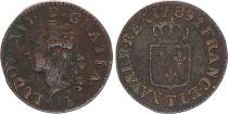 France 1 Liard Louis XVI - 1789 T Nantes