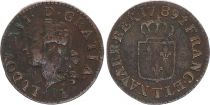 France 1 Liard Louis XVI - 1789 T Nantes