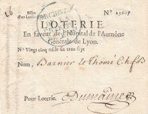 France 1 Louis d\'Or Loterie Hopital de l\'Aumône Générale de Lyon - 1704 - VF