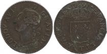 France 1 Sol Louis XVI - 1791T Nantes - 2nd ex