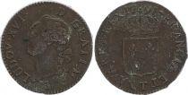 France 1 Sol Louis XVI - 1791T Nantes 2 nd ex