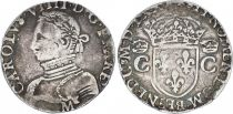 France 1 Teston, Charles IX - Arms 1570 M Toulouse