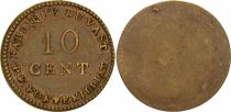 France 10 Cent, Fabrique du Vast - P. F. Fontenilliat - 1795