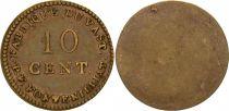 France 10 Cent, Fabrique du Vast - P. F. Fontenilliat - 1795