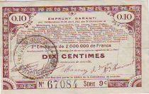 France 10 cent. 70 communes