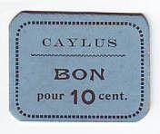 France 10 cent. Caylus