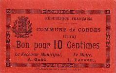 France 10 cent. Cordes