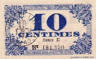 France 10 cent. Lille