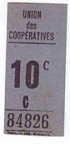 France 10 cent. Paris Union des coopératives