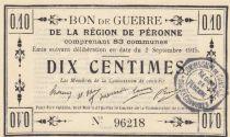 France 10 cent. Péronne