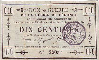 France 10 cent. Péronne