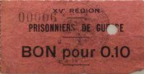 France 10 Centimes - Bon des Prisonniers de Guerre - 15e Région (Castres) - TB
