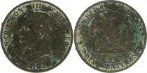 France 10 Centimes  Napoléon III Tête laurée - 1861 BB Strasbourg