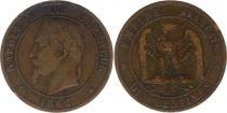France 10 Centimes  Napoléon III Tête laurée - 1862 A Paris