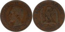 France 10 Centimes  Napoléon III Tête nue - 1854 B Rouen
