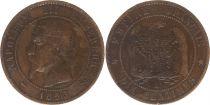 France 10 Centimes  Napoléon III Tête nue - 1855 B Rouen